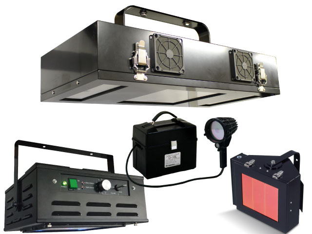 Black Light for Non-destructive Testing and General Usage